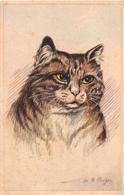 """¤¤  -   Carte De L'Illustrateur  """" M.B. COOPER """"  -  Chats      -  ¤¤ - Autres Illustrateurs"""