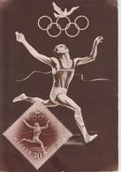 HONGRIE Carte Premier Jour JEUX OLYMPIQUES  D'HELSINKI 1952 ( Athlétisme ) - Sommer 1952: Helsinki