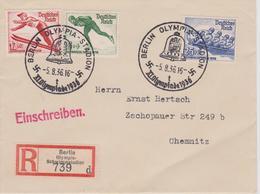ALLEMAGNE  Enveloppe Des JEUX OLYMPIQUES  DE BERLIN 1936 ( Avec Morceau De Journal à L'intérieur De L'enveloppe ) - Sommer 1936: Berlin