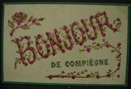 JFC. 227. Bonjour De Compiègne. Cp à Brillants - Compiegne