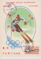 ITALIE Carte Premier Jour JEUX OLYMPIQUES DE ROME 1960 ( Ski ) - Sommer 1960: Rom