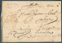 LAC Datée D'ANVERS Le 12 Mars 1621 Expédiée Par Lazarro Benedetto à Nicolas Gianni à Firenze + Manuscrit «Fco Per Mantov - 1598-1621 (Independent Netherlands)