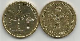 Serbia 5  Dinara  2007. - Serbie