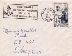 Lettre Saint Louis Du Sénégal Centenaire Des Troupes Africaines Général Faidherbe - Sénégal (1887-1944)