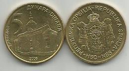 Serbia Serbie 5 Dinara 2008. - Serbia
