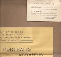 Vieux Papiers : Publicités Photo Populaire René Lauxerois 15,rue De Mardore à COURS ( Rhône )  Réf 5076 - Publicités