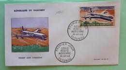19945# REPUBLIQUE DU DAHOMEY BENIN LETTRE DOUGLAS DC 8 PREMIER JOUR COTONOU POSTE AERIENNE 1963 AVION AVIATION - Benin - Dahomey (1960-...)