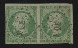 EMISSIONS GENERALES - RARE PAIRE N° 8 Avec OBLITERATION LOSANGE MQE MARTINIQUE - Napoleon III