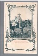 CHILE Costumbres Chilenos Huaso Con Su Mujer Al Anca Ca 1910 OLD POSTCARD 2 Scans - Cile