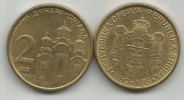Serbia Serbie 2 Dinara  2009. KM#46 NON-MAGNETIC - Serbie