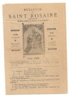1898 BULLETIN DU SAINT ROSAIRE  / DIRECTION CENTRALE TOULOUSE  / RELIGION   B483 - Religion & Esotérisme