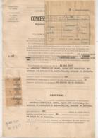1947 TIMBRES FISCAUX ( 10 Fr Et 5 Frs B485 ) SUR CONCESSION A PERPETUITE SAINT DU GARD B485 - Fiscaux