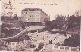 CPA -  1836. RENNES Entrée Du Thabor Et Le Lycée De Jeunes Filles - Rennes
