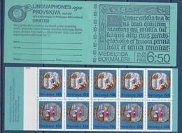 MITTELALTERLICHE BUCHMALEREI LIVRE MEDIEVAL BOOK PAINTING SWEDEN SUEDE SCHWEDEN 1976 MI 966 967  BOOKLET MH 58 MNH - Religion