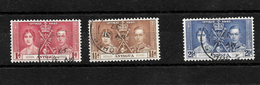 Antigua KGVI 1937 Coronation, Complete Set Used (7005) - Antigua & Barbuda (...-1981)