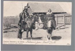 CHILE Cacique Araucano Y Su Senora 1915 OLD POSTCARD 2 Scans - Cile
