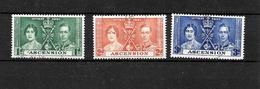 Ascension KGVI 1937 Coronation, Complete Set Used (7006) - Ascension