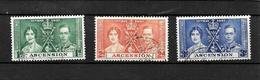 Ascension KGVI 1937 Coronation, Complete Set Used (7007) - Ascension