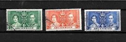 Ascension KGVI 1937 Coronation, Complete Set Used (7008) - Ascension