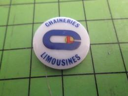 812f Pin's Pins / Belle Qualité Et Rare / MARQUES : PINS EN CERAMIQUE CHAINERIES LIMOUSINES - Marques