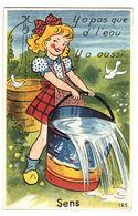 SENS (89) - CARTE À SYSTÈME - Il N' Y A Pas Que De L'eau... Y' A Aussi... - 10 Vues - Ed. GABY - Sens