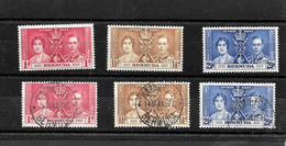 Bermuda KGVI 1937 Coronation, Complete Set MNH & Used (7017) - Bermuda