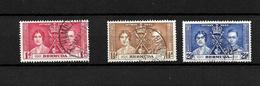 Bermuda KGVI 1937 Coronation, Complete Set Used (7019) - Bermuda
