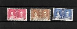 Bermuda KGVI 1937 Coronation, Complete Set Used (7020) - Bermuda