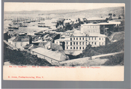 CHILE Bahia De Valparaiso Harbour Hafen Ca 1910 OLD POSTCARD 2 Scans - Cile