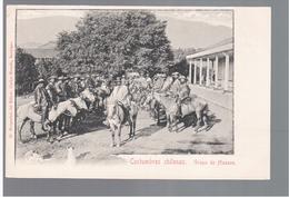 CHILE Costumbres Chilenas Grupo De Huasos Ca 1910 OLD POSTCARD 2 Scans - Cile