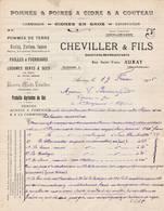56 AURAY Morbihan COURRIER  1916 Pommes & Poires A Cidre CHEVILLER A71 C/ MOELAN SUR MER - 1900 – 1949