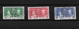 Cayman Islands KGVI 1937 Coronation, Complete Set Used (7029) - Cayman Islands