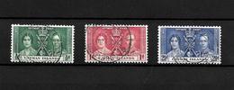 Cayman Islands KGVI 1937 Coronation, Complete Set Used (7030) - Cayman Islands