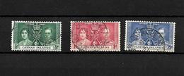 Cayman Islands KGVI 1937 Coronation, Complete Set Used (7031) - Cayman Islands