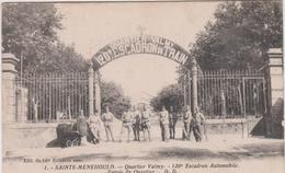 Marne : SAINTE  MENEHOULD : Vue  Quartier  Valmy , 120 Em Escadron  Automobile , Train, Landeau - Sainte-Menehould
