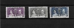 Fiji KGVI 1937 Coronation, Complete Set Used (7045) - Fiji (...-1970)