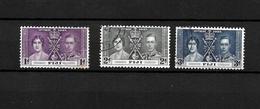 Fiji KGVI 1937 Coronation, Complete Set Used (7046) - Fiji (...-1970)