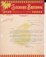 35 COMBOURG Ile Et Vilaine COURRIER 1920 SECHERIE BRETONNE  Produits De La Pomme Charles DAYET    A71 - Frankrijk