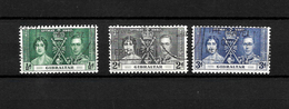 Gibraltar KGVI 1937 Coronation, Complete Set Used (7052) - Gibraltar