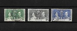 Gibraltar KGVI 1937 Coronation, Complete Set Used (7053) - Gibraltar