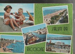 RICCIONE ,VEDUTE DIVERSE-.VIAGGIATA-.-1963-F.G.-MT.,73 - Rimini