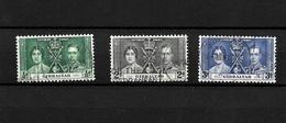 Gibraltar KGVI 1937 Coronation, Complete Set Used (7054) - Gibraltar