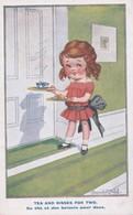 """Carte 1930 Signée Donald Mc Gill """"du Thé Et Des Baisers Pour 2"""" - Mc Gill, Donald"""