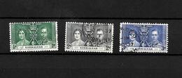 Gibraltar KGVI 1937 Coronation, Complete Set Used (7055) - Gibraltar
