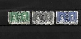 Gibraltar KGVI 1937 Coronation, Complete Set Used (7056) - Gibraltar