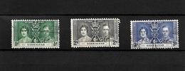 Gibraltar KGVI 1937 Coronation, Complete Set Used (7057) - Gibraltar