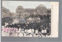 CHILE Procession De Corpus Cristi En La Plaza De Armas Santiago Ca 1910 OLD POSTCARD 2 Scans - Cile