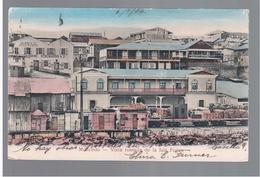 CHILE Mollendo Vista Tomada De La Isla Ponce 1906 OLD POSTCARD 2 Scans - Cile