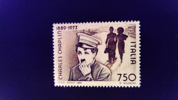 Italie Italy Italia 1989 Charles Chaplin Cinema Yvert 1826 (*) MNG - 1981-90: Ungebraucht