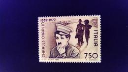 Italie Italy Italia 1989 Charles Chaplin Cinema Yvert 1826 (*) MNG - 1981-90:  Nuevos